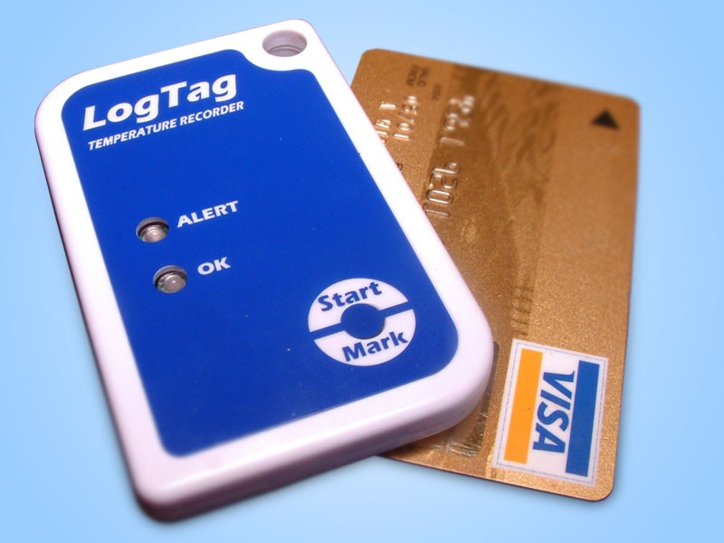 LogTag Data logger with creditcard